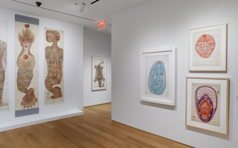 Installation view: Guo Fengyi: To See From a Distance, The Drawing Center, New York. February 20 ­– May 10, 2020. Photo: Martin Parsekian