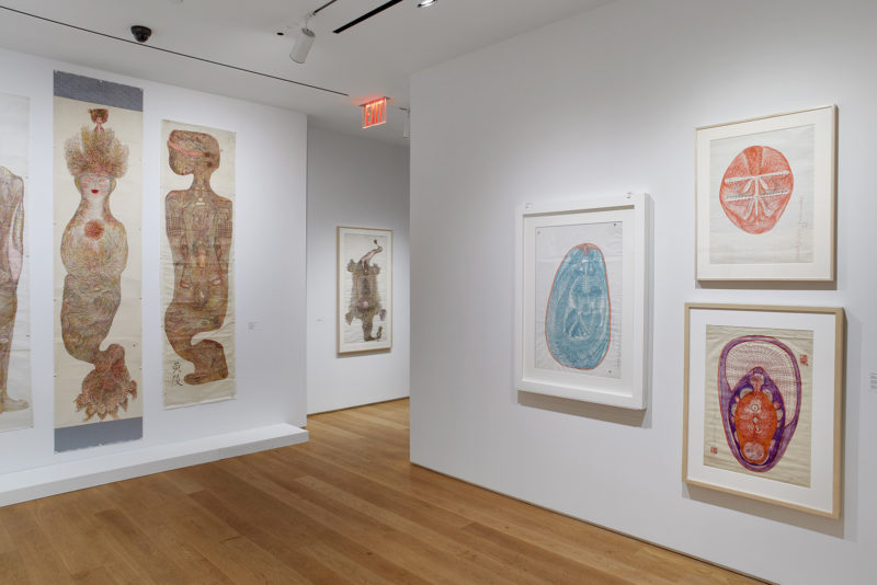 Installation view: Guo Fengyi: To See From a Distance, The Drawing Center, New York. February 20 – May 10, 2020. Photo: Martin Parsekian