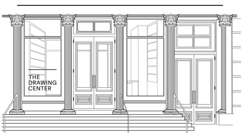 Line Drawing of The Drawing Center's facade