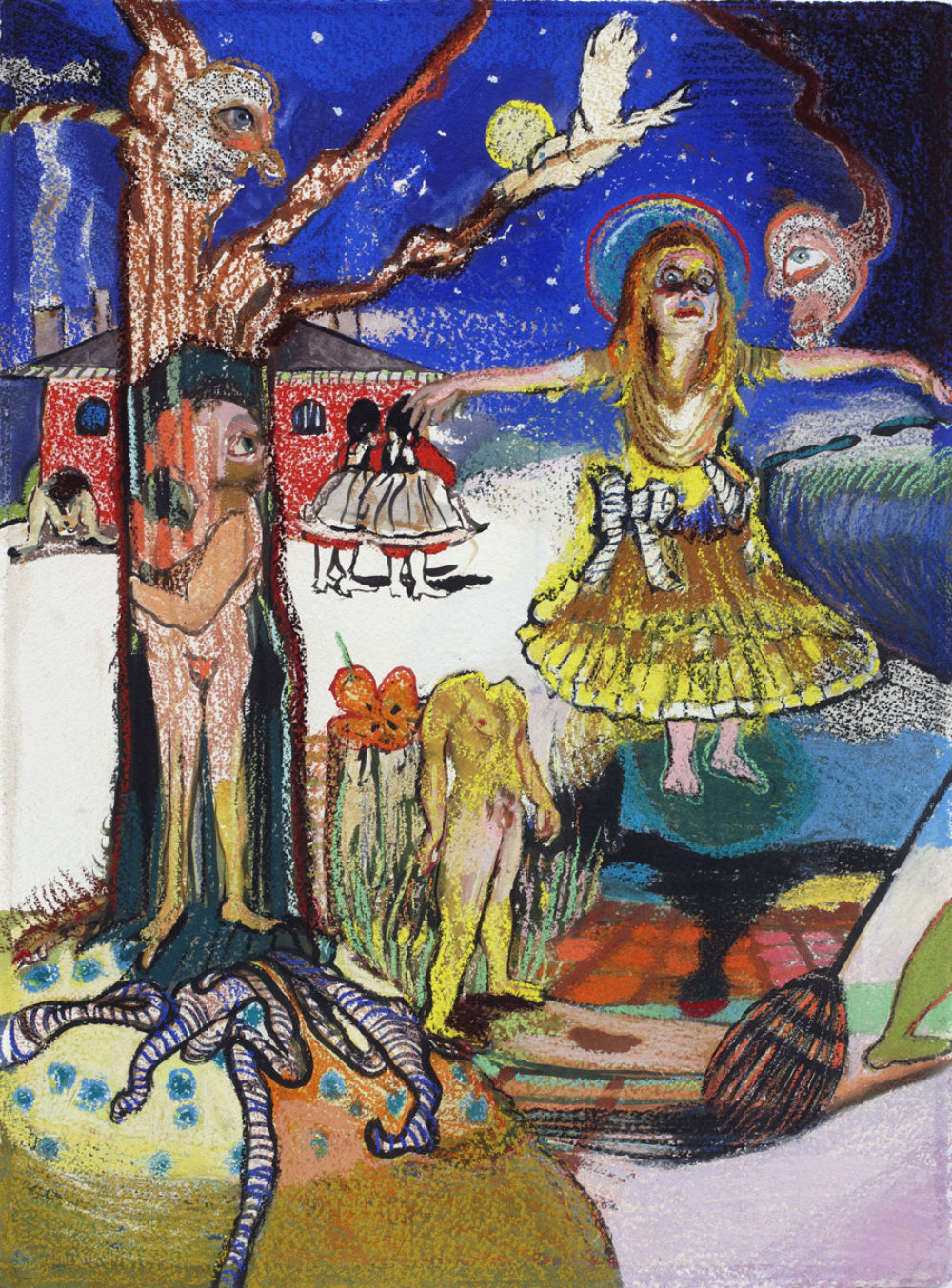 Natalie Frank, Cinderella II, 2011–14, Gouache and chalk pastel on Arches paper, 22 × 30 inches (55.9 × 76.2 cm), Courtesy of  the Blanton Museum of Art, The University of Texas at Austin; Promised gift of Kathleen Irvin Loughlin and Chris Loughlin