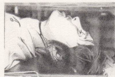 Tom Molloy, Dead 1, 2012-13. Graphite on paper, 17 ¼ × 17 ½ inches.  Collection Glenn and Amanda Fuhrman NY. Courtesy The FLAG Art Foundation.